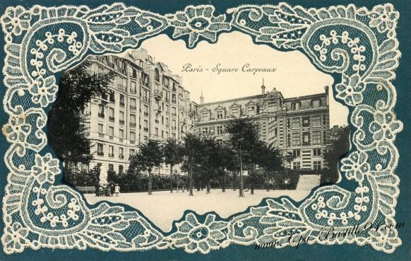 Carte postale Ancienne Dentelle - Paris le Square Carpeaux