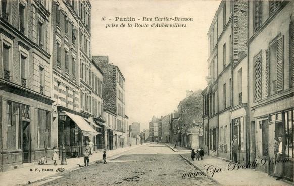 Pantin - Rue Cartier - Bresson - Prise de la Route d'Aubervilliers
