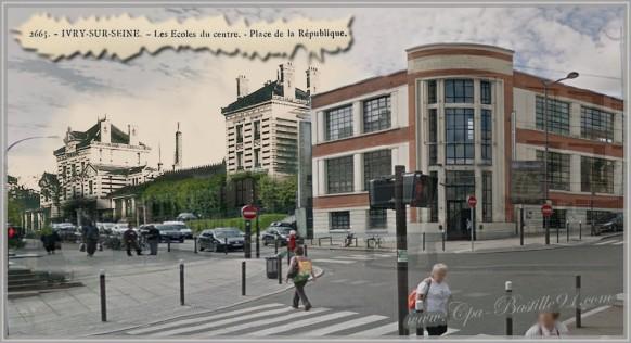 Ivry-sur-Seine-Place-de-la-république-dhier-à-aujourdhui-place-de-la-république