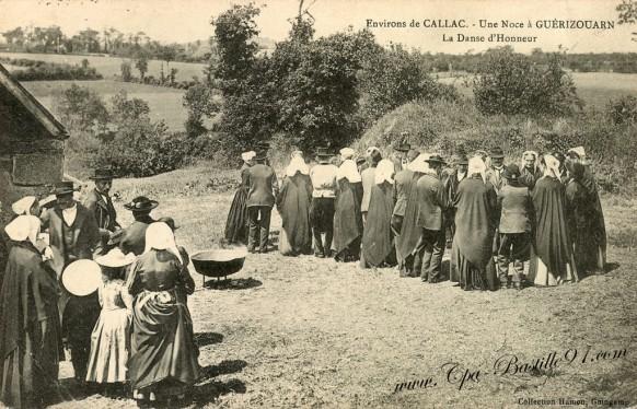 Environs de Callac - Une noce à Guérizouarn - La Danse d'honneur