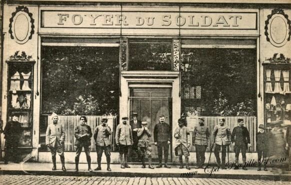 carte-postale-Ancienne-Foyer-du-soldat