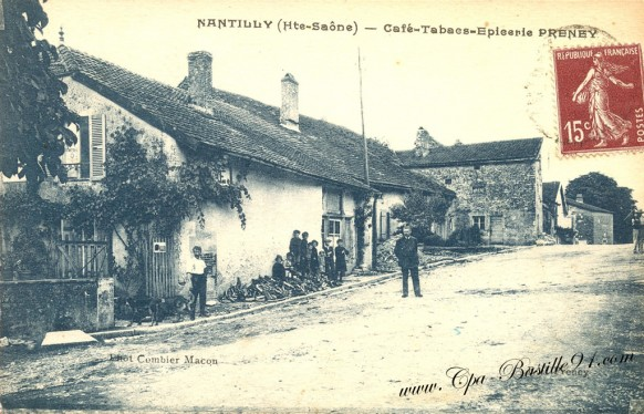 Carte Postale Ancienne - Nantilly - Le Café tabacs epicerie Preney