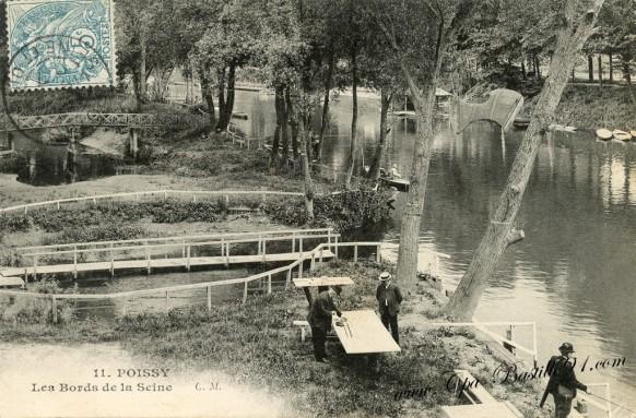 Carte Postale Ancienne de Poissy - Les Bords de la Seine