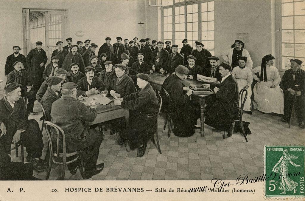 Carte Postale Ancienne De L Hospice De Brevannes Salle De R Unions Des Hommes Malades Cartes