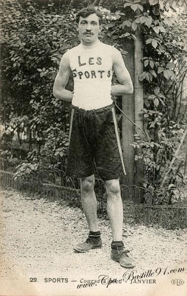Carte Postale Ancienne - Sports - course à pied - Le coureur Janvier