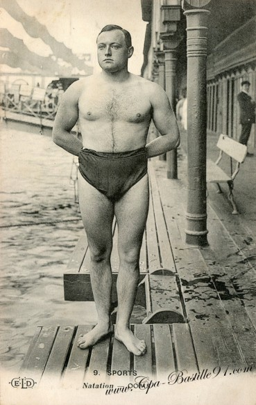 Carte Postale Ancienne de Sports de Natation - Le nageur Ooms
