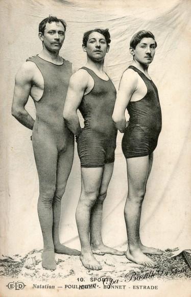 Carte Postale Ancienne - Sports de Natation - Pouliquen - Bonnet - Estrade