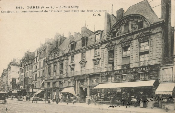 Carte-Postale-Ancienne-Paris-Hotel-Sully