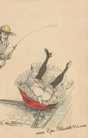 Illustrateur Georges Mouton - Belle prise de fesses en l'air