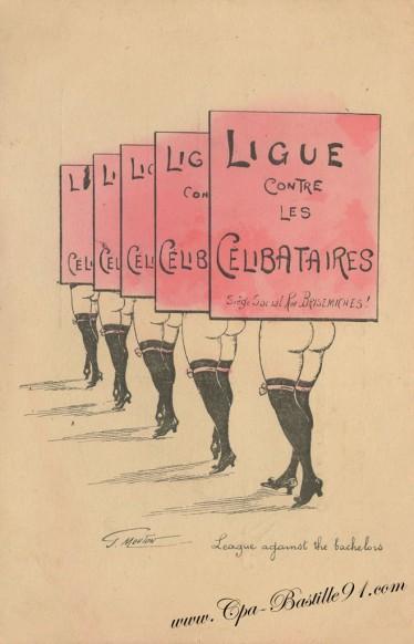 Ligue des célibataires - Siège social Rue Brisemiches - Illustrateur Georges Mouton