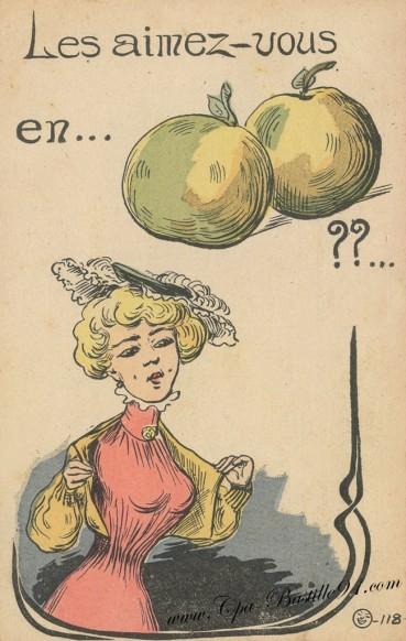 Carte Postale Ancienne - Les aimez vous en poire..??