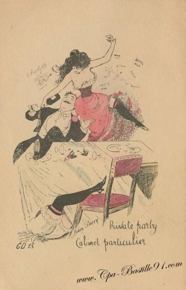 Carte Postale Ancienne - Private Party de Xavier Sager