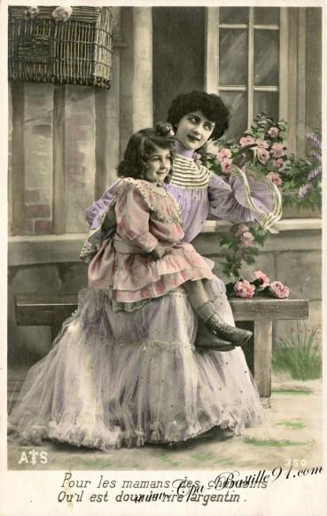 Carte postale Ancienne - Pour les Mamans des Chérubins qu'il est doux le rire argentin