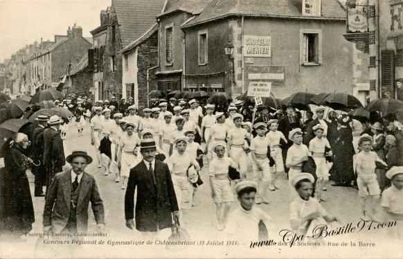 Concours Régional de Gymnastique de Châteaubriant du 19 juillet 1914