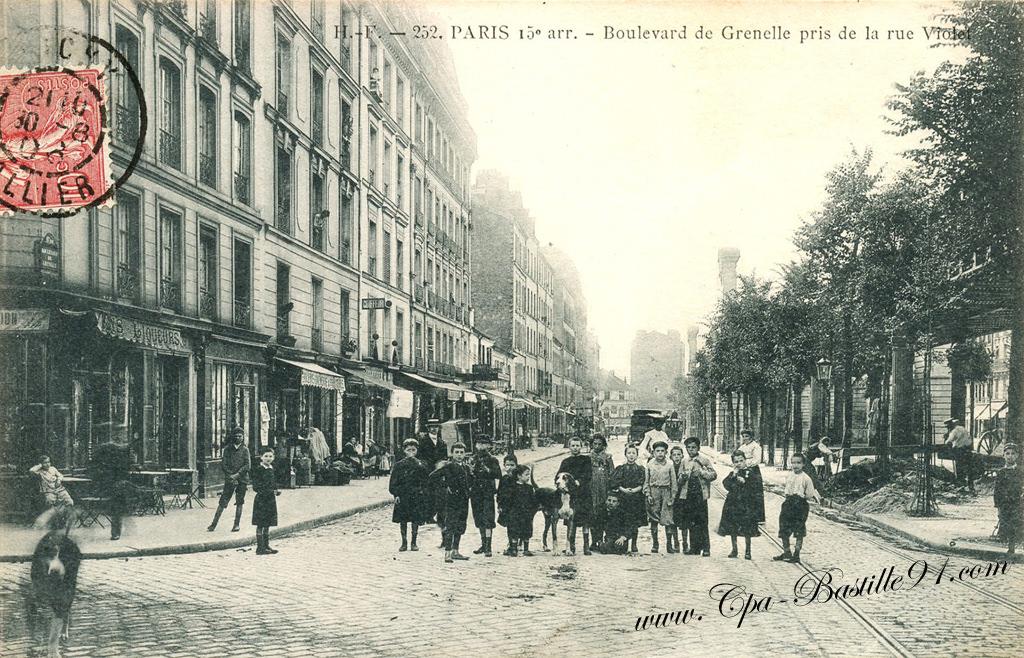 carte postale ancienne boulevard de grenelle pris de la rue violet les coliers en 1900. Black Bedroom Furniture Sets. Home Design Ideas