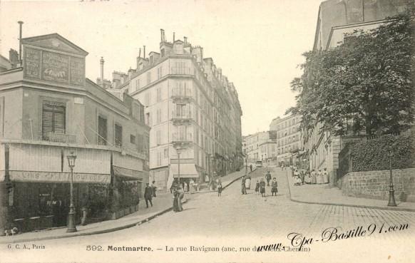 Carte Postale Ancienne - Paris -Montmartre - La rue Ravignan