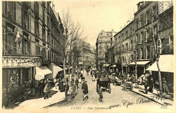Carte-Postale-Ancienne-Paris-Rue-cambronne