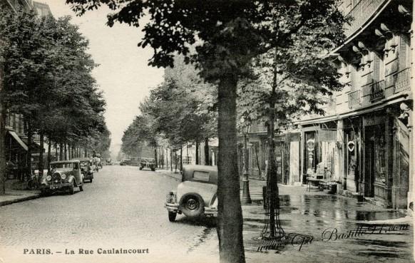 Carte Postale Ancienne - Paris la rue Caulaincourt