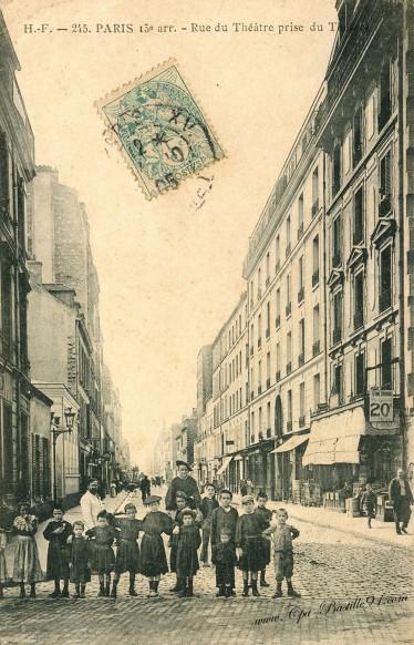 Carte Postale Ancienne-Paris rue du théatre