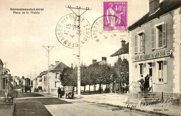 Carte Postale Ancienne - Sermaises du Loiret - Place de la Mairie