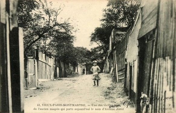 Carte Postale Ancienne - Montmartre avenue Junot - l'ancien Maquis