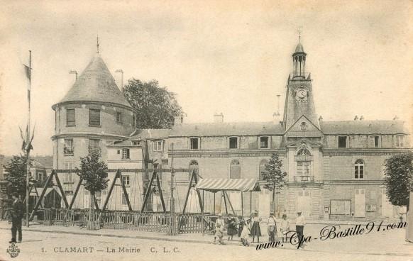 Carte Postale Ancienne - Clamart la Mairie en 1910