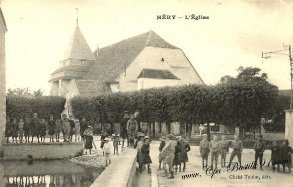 Carte-postale-Ancienne-Héry-léglise