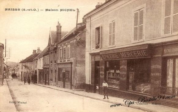 Carte Postale Ancienne - Maisse - Maison Michel - Epicerie Mercerie
