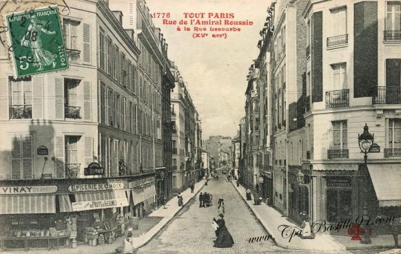 Cartes Postales Anciennes - Tout Paris XV - Rue Amiral Roussin à la rue Lecourbe