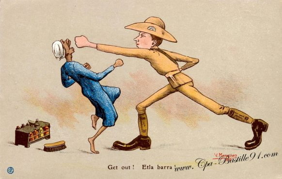 Carte Postale Ancienne - Illustrateur Manavian - Get Out ! Etla barra