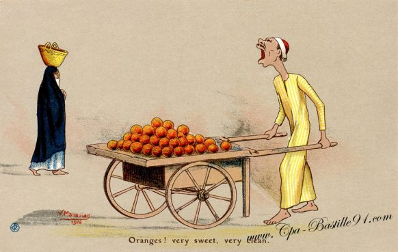 Cartes Postales Illustrateur Manavian en 1916 - Oranges ! Very sweet verry Clean