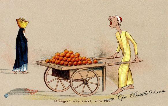 Cartes Postales Illustrateur Manavian en 1916 - Oranges ! Very sweet verry Clean