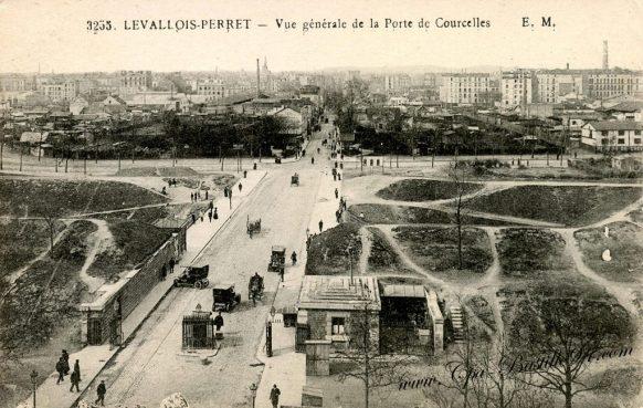 Carte-Postale-Ancienne-Levallois-Perret-vue-générale-de-la-Porte-de-courcelles