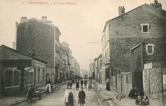Cartes-Postale-Anciennes-Montreuil-la-rue-raspail