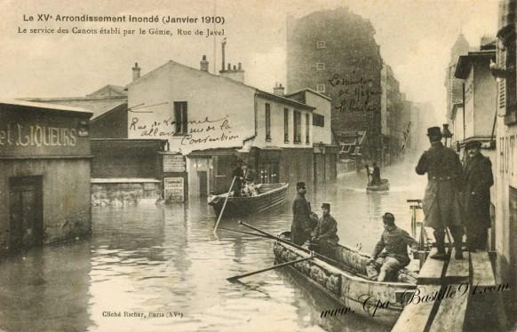 Cartes-Postales-Anciennes-il'Inondation du 15 arrondissement de Paris en janvier 1910