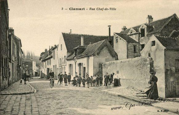 Cartes Postales Anciennes - Clamart rue du Chef-de-Ville