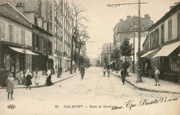Carte Postale Ancienne de Malakoff - Route de Montrouge