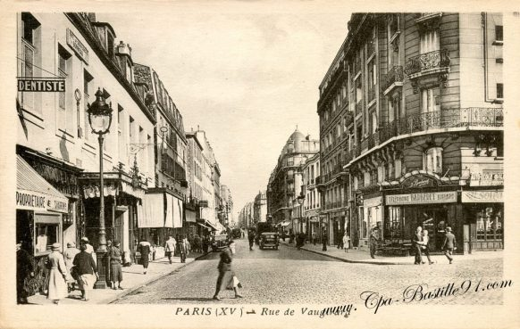 Carte Postale Ancienne - Paris XV - rue de Vaugirard