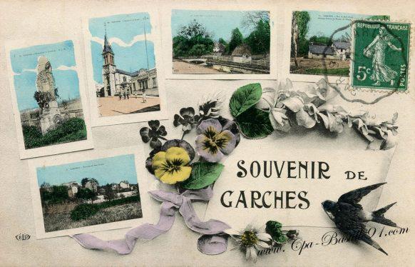 Carte Postale Ancienne - Souvenir de Garches