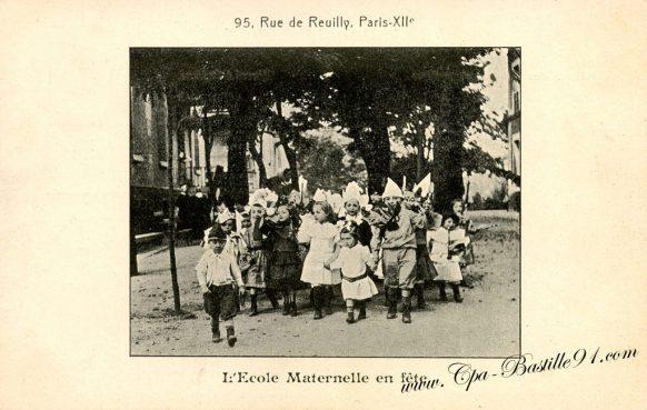 Cartes Postales Anciennes - l'école maternelle en fête - 95 rue de Reuilly à Paris XI