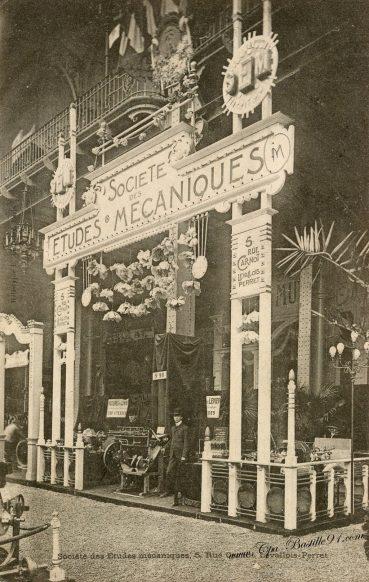 Carte Postale Ancienne - Sociéte des études mécaniques à Levallois Perret