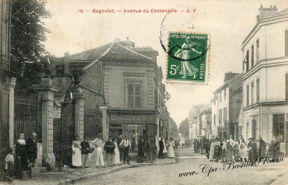 Cartes postales anciennes - Bagnolet avenue du Centenaire