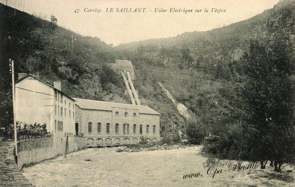 Carte Postales Ancienne - Corréze - Le Saillant - usine Electrique sur la Vezère