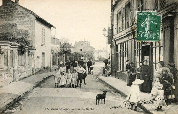 Carte postale Anciennes - Courbevoie rue de Bitche