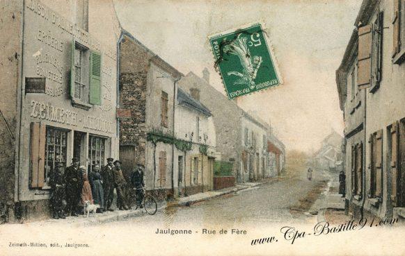 Carte Postales Ancienne - Jaulgonne rue de Fére à la belle époque