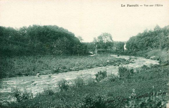 Carte Postale Ancienne - Le Faouët - Vue sur l'Ellée