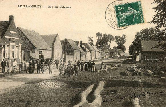 Carte postale Ancienne - Le Transloy - Rue du Calvaire