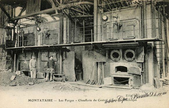 Cartes postales anciennes - Montataire - Les forges chaufferie du centrale d'énergie électrique