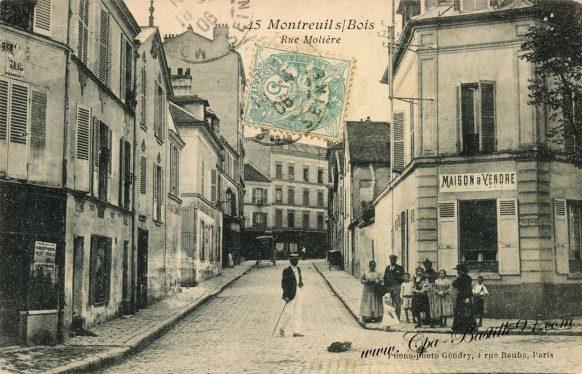 Cartes Postales Anciennes - Montreuil-sous-bois - La rue Molière