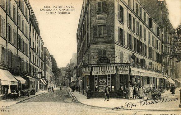 Cartes Postales Anciennes - Paris Avenue de Versailles et rue Boileau d'Hier à Aujourd'hui